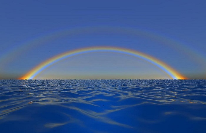 RAINBOW OVER WATER - 2